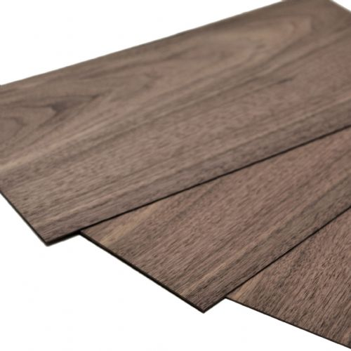 "Walnut plywood 1.5mm. 15.5"" x 8"" ( 40 x 20 cm )"
